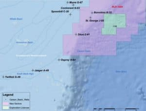 Integrated Stratigraphic framework for Offshore Southern Newfoundland Well Map Future Geoscience lowres
